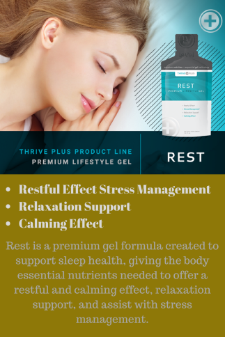 Rest is a premium gel formula created to support sleep health, giving the body essential nutrients needed to offer a restful and calming effect, relaxation support, and assist with stress management.