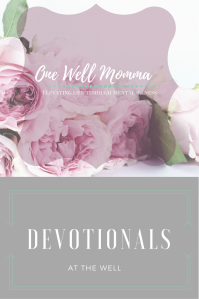 Victory comes one day at at time. In these devotionals you'll find strength, peace and comfort to help you on your journey with mental illness while strengthening your walk with Christ in these devotionals at The Well with One Well Momma Mental Health and Self Care Blog