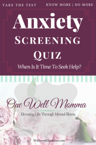 Could you be suffering from anxiety? Take this quick quiz to help you determine if your may need to see a professional for help.