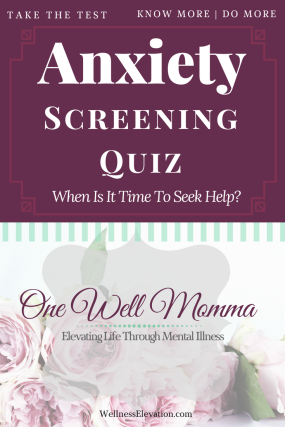 Could you be suffering from anxiety? Take this Anxiety Screen Quiz to help you determine if it's time see a professional.