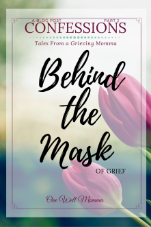 "A young mother's short journaling of her struggle with mental illness. This story, titled ""Behind the Mask Of Grief,"" she talks about how she wears a mask to hide her grief and depression during a routine day of errands and how she ""lets it all go"" when she is alone after she projects her emotions onto an unaware passerby."