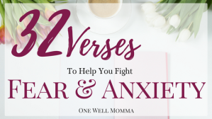 32 Bible Verses to help Fight Fear and Anxiety on One Well Momma